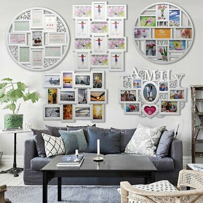 Large 12 Multi Photo Frame Love Family Home Wall Picture Album Decoration Gifts