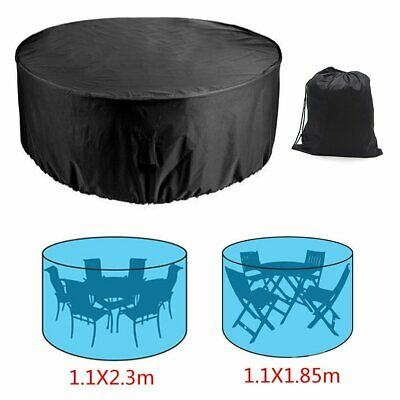 Garden Patio Round Furniture Cover Waterproof Heavy Duty Outdoor Shelter BBQ