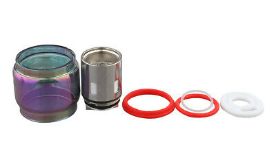 Clrane 3-in-1 Glass Tank + Seal Rings + Coil Head for SMOK TFV12 Prince  0.12...