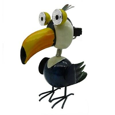 Lotus Collection Metal Toucan Solar Garden Statue - Ssh-05