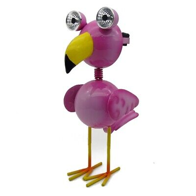 Lotus Collection Flamingo Solar Metal Garden Statue - SSH-06