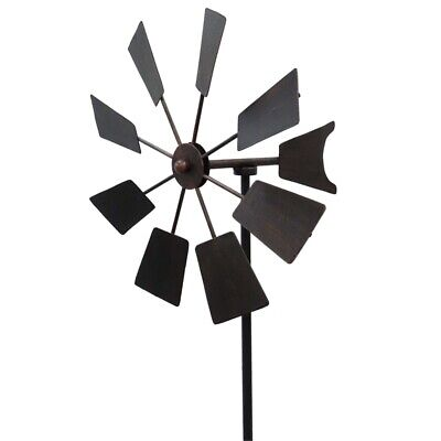 Lotus Collection 90cm Rustic Windmill Garden Stake - HY16-1202X
