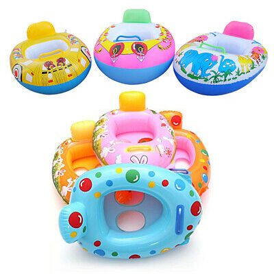 Baby Float Swimming Ring Toddler Baby Inflatable Rubber Swim Ring Boat Seat xcv