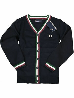 Fred Perry Kids Kinder Cardigan SY1221 608 Navy Feinstrick Strickjacke 6214
