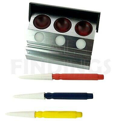 Watchmakers Oil Holder Container with 3 cups & set of 3 oil pins included tool