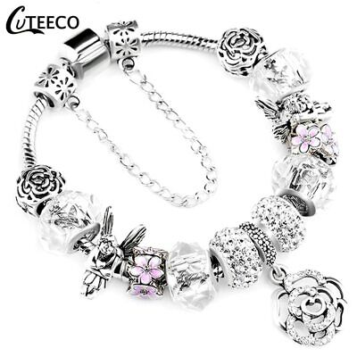 """925 Fashion Authentic Pandora Bracelet With """"love Story"""" European Charms Silver"""