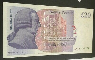 Bank of England Twenty Pound Replacement Note (Bailey) AA18 299786 UNC Crisp Min