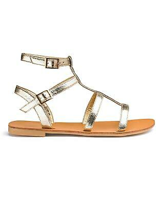 Womens Gladiator Sandals Sofia Flat Strappy Sandal Shoe Simply Be