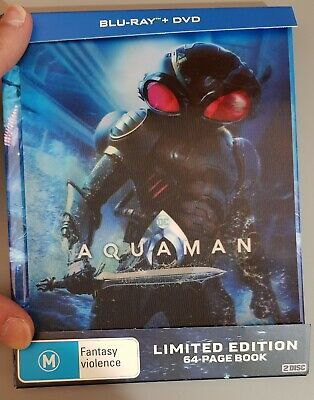Aquaman Bluray + DVD combo New Digibook Limited Edition Lenticular Cover AUS PAL