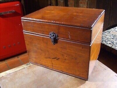 "ANTIQUE MAHOGANY INSTRUMENT BOX  marked "" ROGERS ELECTRICAL SPECIALTY""  LONDON"