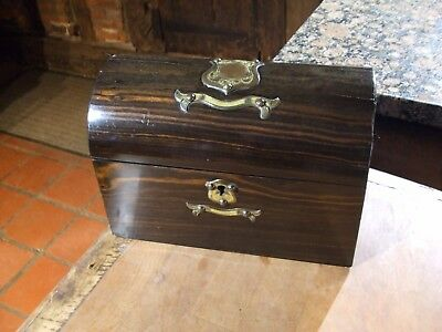 ANTIQUE 19C COROMANDEL DOMED TOPPED STATIONARY BOX  lovely original box