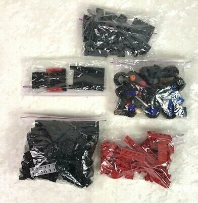 LEGO 1 Pound LOT of Bricks Bulk Mixed Pieces Sorted by Black Red Colors