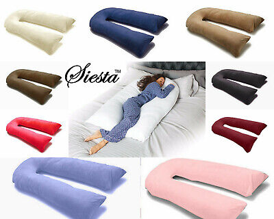9Ft U Pillow Body/Bolster Support Maternity Pregnancy Support Pillow+Case