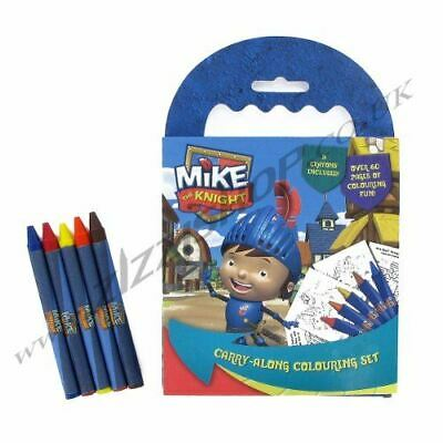 Childrens Carry Along Colouring Set Crayons Book Art Stationary Travel Party Bag