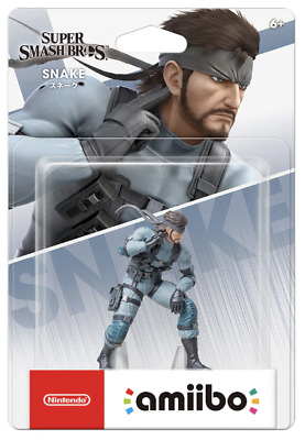 ☀ Nintendo Amiibo Solid Snake Super Smash Bros. Metal Gear Figure Japan ☀