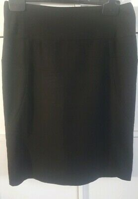 Black Skirt Size 10 Next Ladies Girls School Work Smart