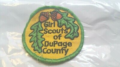 Patch tissus -*- Girl Scouts of Dupage County -*-   Diamètre : 75 mm