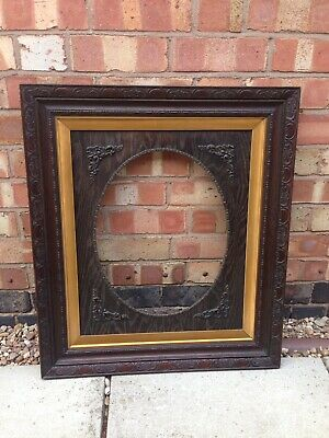 Large Victorian Decorative Picture/Mirror Frame With Oval Insert