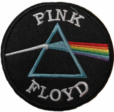 """Pink Floyd Dark Side of the Moon Logo 3"""" in Diameter Embroidered Patch"""