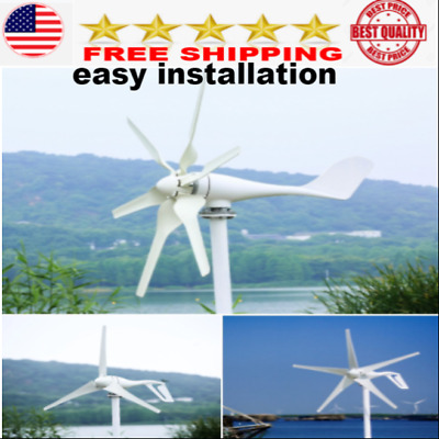 Wind Turbine Generator kit for Home Boat 600W Controller vertical blades 12v NEW