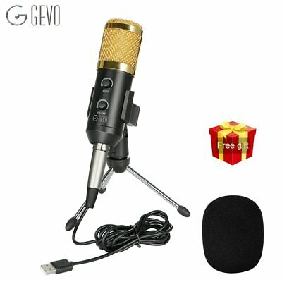 GEVO BM 900 Microphone For Computer Wired Condenser Studio USB Mic For Karaoke