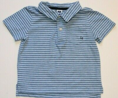 Janie and Jack 18-24M Midsummer Moment Boys Blue Nautical Polo Striped Top Shirt