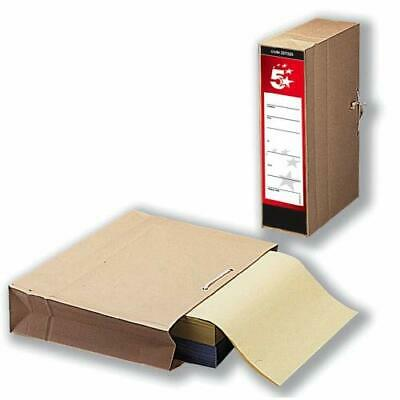 [hlc] 5 Star Storage Bag with Dust Flap Foolscap 102mm Capacity 356x248mm Pack 2