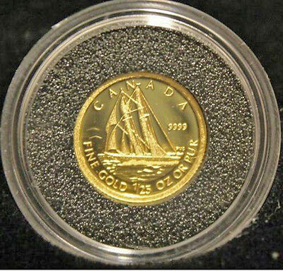 2012 Canada Gold Proof Coin 50 Cent 1/25 Oz 99.99% Pure*The Bluenose*