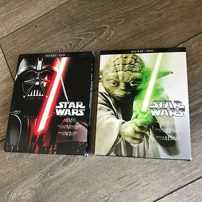 Star Wars SAGA Prequel + Trilogy on Bluray / DVD Complete Saga I-VI 12 discs set