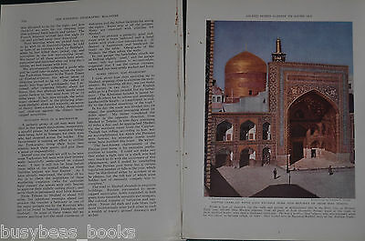 1939 magazine article about PERSIA, history, people, IRAN, color photos