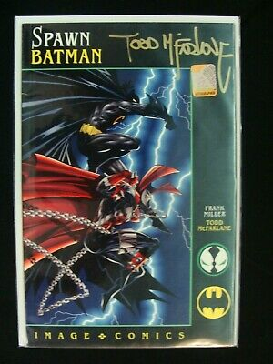 Spawn Batman Image Comics Frank Miller Signed by Todd McFarlane FN - VF