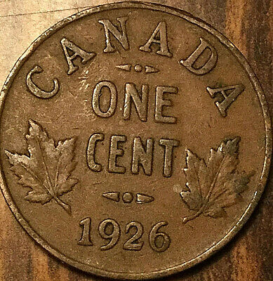 1926 Canada Small Cent Penny Small 1 Cent