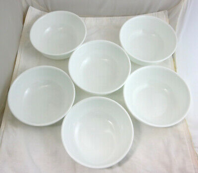 Set of 6 Corelle Winter Frost White Small Soup BOWLS 16 oz Cereal Ice Cream