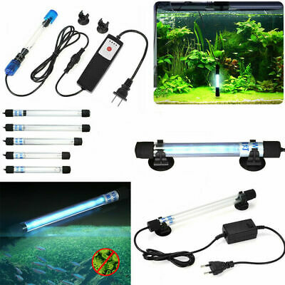 Submersible Aquarium UV Light Sterilizer Pond Fish Tank Germicidal Clean Lamp RO