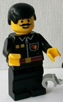 Reissue Lego Minifig Helmet x 1 Yellow with Thick Chin Strap /& Visor Dimples