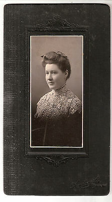 cabinet photo young teen woman fashion hair dress brocade lace Wingham Ont.Can.