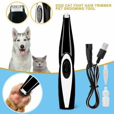 Dog Electric Shaver Mini Toes Paw Pads Professional Pet Trimmer Hair Clipper AU