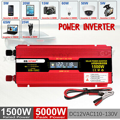 3000/4000/6000W Solar Power Inverter DC12/24V to AC110V/220V Car Sine Converter