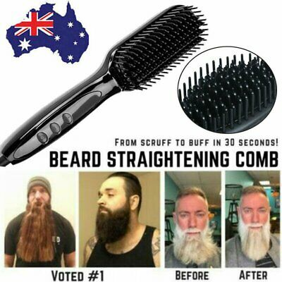 Quick Beard Straightener Multifunctional Hair Comb Curler For Man + Disp RK