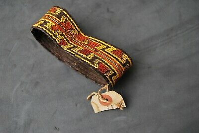 Old Solomon Islands woven armband with partial old collection label - New Guinea