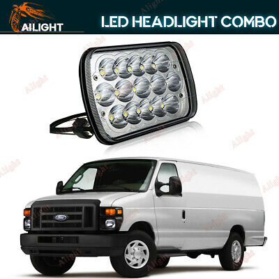 1P 7X6'' LED Headlight For Ford E-150 E-350 Econoline Club Wagon E250 Cargo Van