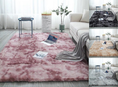 Shaggy Rugs Tie-Dyed Carpet Living Room Bedroom Area Rugs Soft Large Rug  Decor
