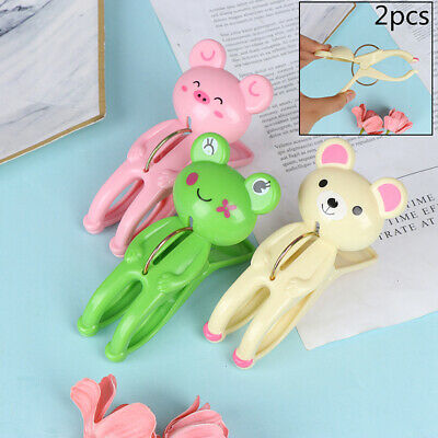 2pcs Clothes Pegs Drying Laundry Hanging Racks Cute Frog Bear Beach Towel Cl TPI