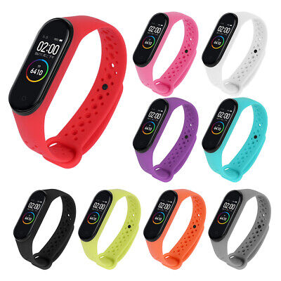 Breathable Sports Watch Band Silicone Wrist Strap for Xiaomi Mi Band 4 3