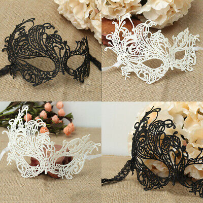 Charming Women Black White Lace Eye Face Mask Masquerade Party Halloween Costume