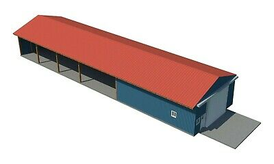 Pole Barn - Shed Plans DIY Outdoor Storage Shed Building Plan 30' Build Your Own