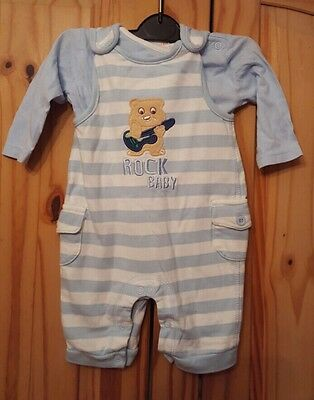 Baby Boys Dungarees Outfit Age 0-3 Months Blue zoo