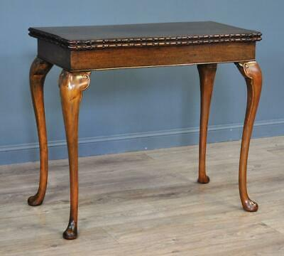 Attractive Antique Mahogany Fold Over Card Hall Table on Cabriole Legs