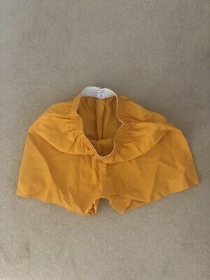 Gymphlex Vintage Retro Crisp Nylon Gym Soccer Football Shorts 38/40W Orange