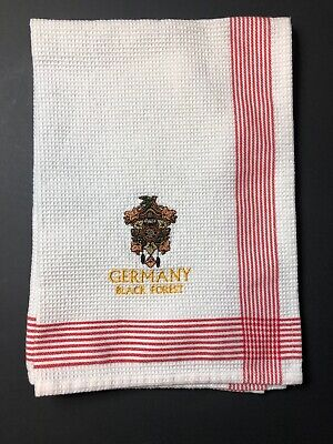 GERMAN BLACK FOREST Cuckoo Clock Embroidered Kitchen Towel